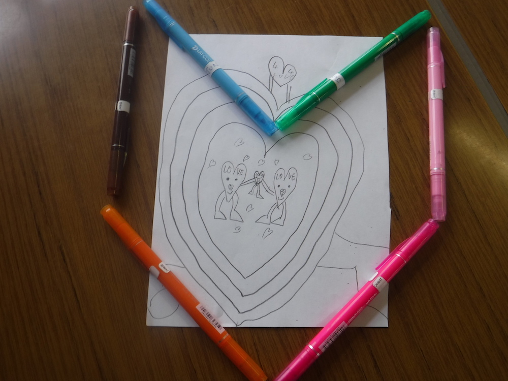 """Jun Sauvageot """"Le mariage des cœurs en couleur"""""""